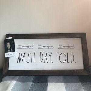 Rae Dunn laundry sign